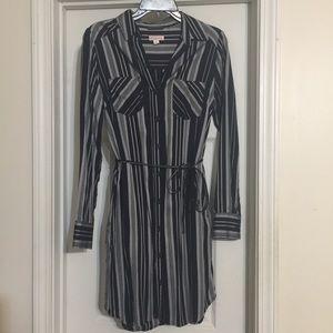 Navy/Silver button down dress